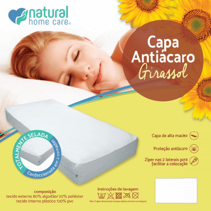 CAPA ANTI ÁCAROS GIRASSOL CASAL REF: 018-C  NATURAL HOME CARE